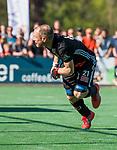 BLOEMENDAAL   - Hockey -  2e wedstrijd halve finale Play Offs heren. Bloemendaal-Amsterdam (2-2) . Teun Rohof (A'dam)   tijdens de shoot outs.    COPYRIGHT KOEN SUYK