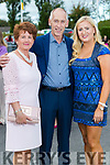 Bee, Eamon and Elaine Hayes (Thurles) at the Rose of Tralee fashion show at the dome on Sunday night.