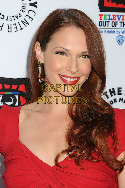 "Amanda Righetti.""Television: Out Of The Box"" Museum Exhibit created by Warner Bros. Television Group held at The Paley Center, Beverly Hills, California, USA..April 12th, 2012.headshot portrait red lipstick .CAP/ADM/BP.©Byron Purvis/AdMedia/Capital Pictures."