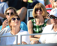 FLUSHING NY- SEPTEMBER 1: Anna Wintour watching Roger Federer Vs Fernando Verdasco on Arthur Ashe stadium at the USTA Billie Jean King National Tennis Center on September 1, 2012 in in Flushing Queens. © mpi04/MediaPunch Inc
