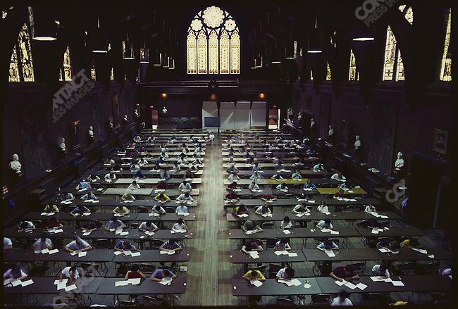Exams, Memorial Hall, Harvard University, Cambridge, Massachusetts, USA, May 1986