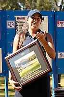 SAN ANTONIO, TX - NOVEMBER 1, 2011: The University of Texas at San Antonio Roadrunners host the Alamo Invitational Women's Golf Tournament at the Briggs Ranch Golf Club. (Photo by Jeff Huehn)