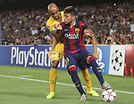 17.09.2014 Barcelona, Spain. Champions League Groups. Picture shor Munir in action during game beteween FC Barcelona against Apoel at Camp Nou