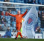 24.3.2018: Rangers legends match:<br /> Rangers legend Ally McCoist celebrates after scoring his hat trick