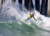 Daniel Ross. 2009 ASP WQS 6 Star US Open of Surfing in Huntington Beach, California on July 23, 2009. ..