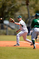 Slippery Rock first baseman John Shaffer (26) during a game against the Wayne State Warriors on March 15, 2013 at Chain of Lakes Park in Winter Haven, Florida.  (Mike Janes/Four Seam Images)