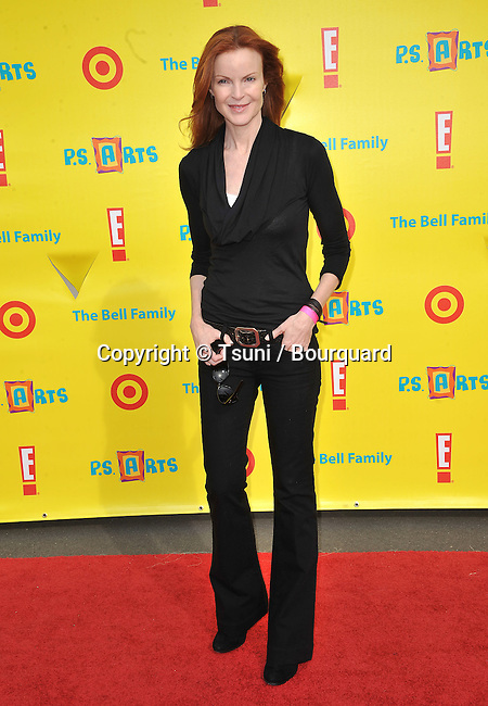 Marcia Cross - PS Art Express Yourself-2010 at the Santa Monica Barker hangar in Los Angeles.