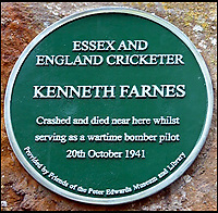 BNPS.co.uk (01202 558833)<br /> Pic: Pen&amp;Sword/BNPS<br /> <br /> Right arm fast bowler and batter Pilot Officer Kenneth Farnes played in fifteen tests and 168 first class matches, he was a RAF Volunteer Reserve and died 20 October 1941, aged 30.<br /> <br /> The tragic stories of the 10 test players and 130 first class cricketers who lost their lives in the Second World War are told in a fascinating new book.<br /> <br /> The outbreak of the war prompted cricketers to swap their whites for uniform and pitch up at the various battlegrounds of the conflict to do their duty.<br /> <br /> Many cricketers excelled themselves in combat - distinguishing themselves with their bravery and their intelligence.<br /> <br /> In The Coming Storm, screenwriter Nigel McCrery reveals each man's career details, including cricketing statistics and the circumstances of death.