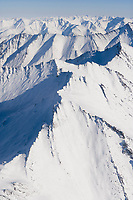 Aerial view of the Philip Smith Mountains, east of the dalton highway, Brooks Range, Alaska