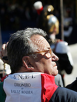 Un vecchio partigiano alla cerimonia per il sessantatreesimo anniversario della Liberazione dal nazifascismo, all'Altare della Patria, Roma, 25 aprile 2008..An old partisan at the ceremony for the 63rd anniversary of Italy's Liberation from nazifascism, at the Unknown Soldier's monument in Rome, 25 april 2008..UPDATE IMAGES PRESS/Riccardo De Luca