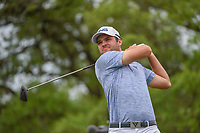 Corey Conners (CAN) watches his tee shot on 2 during day 4 of the Valero Texas Open, at the TPC San Antonio Oaks Course, San Antonio, Texas, USA. 4/7/2019.<br /> Picture: Golffile | Ken Murray<br /> <br /> <br /> All photo usage must carry mandatory copyright credit (© Golffile | Ken Murray)