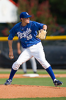 Keaton Hayenga #55 of the Burlington Royals in action versus the Pulaski Mariners at Burlington Athletic Park August 4, 2009 in Burlington, North Carolina. (Photo by Brian Westerholt / Four Seam Images)