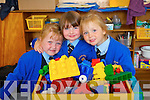Junior Infants in Presentation Primary, Tralee on Tuesday From left: Grainne Breen, Rachel Prenderville and Cassandra Knightly.