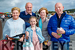 Lyla Warren, Liam Casey, Sarah Warren, Marian Casey and John O'Gorman, all from Killarney, enjoying Listowel races on Sunday.