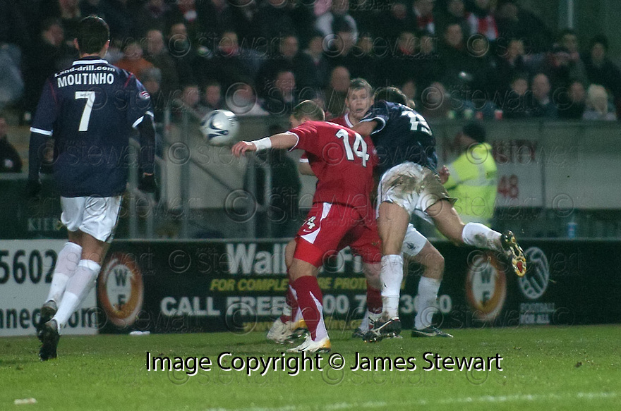 12/01/2008    Copyright Pic: James Stewart.File Name : sct_jspa10_falkirk_v_aberdeen.ARNAU RIERA SCORES FALKIRK'S SECOND.James Stewart Photo Agency 19 Carronlea Drive, Falkirk. FK2 8DN      Vat Reg No. 607 6932 25.Office     : +44 (0)1324 570906     .Mobile   : +44 (0)7721 416997.Fax         : +44 (0)1324 570906.E-mail  :  jim@jspa.co.uk.If you require further information then contact Jim Stewart on any of the numbers above.........