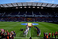 Harrison, NJ - Sunday March 04, 2018: Walk out during a 2018 SheBelieves Cup match match between the women's national teams of the United States (USA) and France (FRA) at Red Bull Arena.