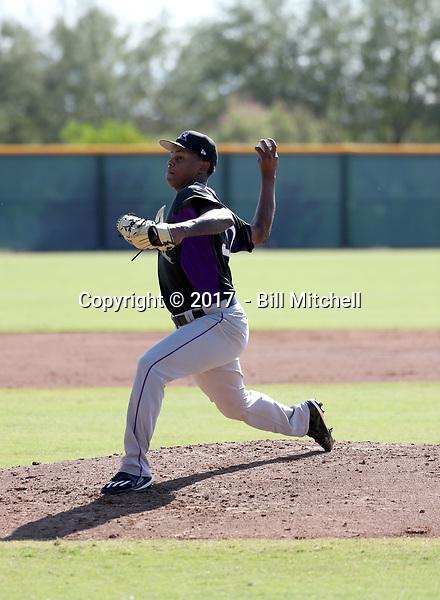 Yency Almonte - 2017 AIL Rockies (Bill Mitchell)