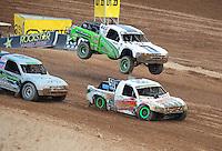Mar. 19, 2011; Chandler, AZ, USA;  LOORRS pro two driver Jeff Geiser and Jesse James during round one at Firebird International Raceway. Mandatory Credit: Mark J. Rebilas-US PRESSWIRE