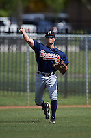 Atlanta Braves Bradley Keller (66) during practice before an instructional league game against the Houston Astros on October 1, 2015 at the Osceola County Complex in Kissimmee, Florida.  (Mike Janes/Four Seam Images)