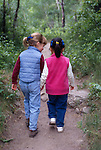 kids, hiking, walking away, talking, trail, outdoors, exercise, Rocky Mountain NP, Colorado, USA