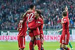 01.12.2018, Weser Stadion, Bremen, GER, 1.FBL, Werder Bremen vs FC Bayern Muenchen, <br /> <br /> DFL REGULATIONS PROHIBIT ANY USE OF PHOTOGRAPHS AS IMAGE SEQUENCES AND/OR QUASI-VIDEO.<br /> <br />  im Bild<br /> <br /> Serge Gnabry (FC Bayern Muenchen #22) zum 0 zu 1 <br /> <br /> jubel mit Rafinha (FC Bayern Muenchen #13)<br /> Thomas M&uuml;ller / Mueller (FC Bayern Muenchen #25)<br /> Leon Goretzka (FC Bayern Muenchen #18)<br /> <br /> Foto &copy; nordphoto / Kokenge