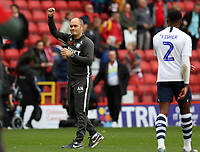 Alex Neil Manager of Preston North End thanks fans at full time during Charlton Athletic vs Preston North End, Sky Bet EFL Championship Football at The Valley on 3rd November 2019