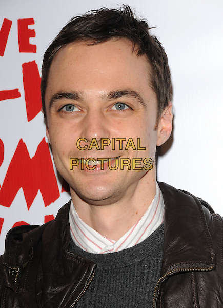 JIM PARSONS.The The Pee-Wee Herman Show Opening Night held at Club Nokia at L.A. Live in Los Angeles, California, USA..January 20th, 2010.headshot portrait black brown leather .CAP/RKE/DVS.©DVS/RockinExposures/Capital Pictures.