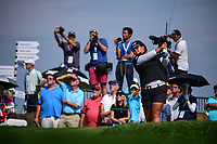 Christina Kim (USA) watches her tee shot on 16 during Thursday's first round of the 72nd U.S. Women's Open Championship, at Trump National Golf Club, Bedminster, New Jersey. 7/13/2017.<br /> Picture: Golffile | Ken Murray<br /> <br /> <br /> All photo usage must carry mandatory copyright credit (&copy; Golffile | Ken Murray)
