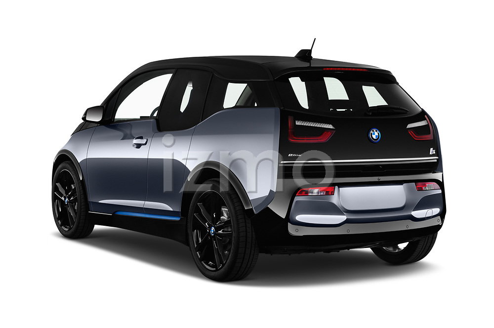 Car pictures of rear three quarter view of a 2018 BMW i3 S 5 Door Hatchback angular rear