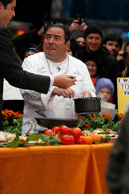 WWW.ACEPIXS.COM . . . . .  ....November 22 2011, New York City....Celebrity chef Emeril Lagasse cooking in Times Square on TV show Good Morning America on November 22 2011 in New York City....Please byline: CURTIS MEANS - ACE PICTURES.... *** ***..Ace Pictures, Inc:  ..Philip Vaughan (212) 243-8787 or (646) 679 0430..e-mail: info@acepixs.com..web: http://www.acepixs.com