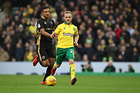 Alex Pritchard of Norwich City runs with the ball during Norwich City vs Millwall, Sky Bet EFL Championship Football at Carrow Road on 1st January 2018