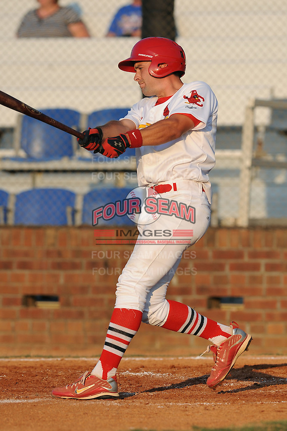 Johnson City Cardinals Philip Cerreto at Howard Johnson Field in Johnson City, Tennessee July 6, 2010.   Johnson City won the game 6-5.  Photo By Tony Farlow/Four Seam Images
