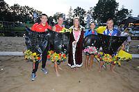 FIERLJEPPEN: IT HEIDENSKIP: Fierljepforiening It Heidenskip, 26-07-2014, NFM (Nationale Fierljep Manifestatie), Jan Teade Nauta wint bij de jongens, ©foto Martin de Jong