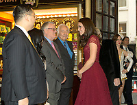 04 April 2017 - Kate Duchess of Cambridge. Opening Night of 42nd Street In Aid EACH Theatre Royal London. Also pictured is Dr Johnny Hon and Michael Linnit. Photo Credit: ALPR/AdMedia