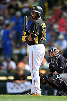 Pittsburgh Pirates catcher Tony Sanchez (26) during a Spring Training game against the New York Yankees on March 5, 2015 at McKechnie Field in Bradenton, Florida.  New York defeated Pittsburgh 2-1.  (Mike Janes/Four Seam Images)
