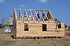 House being built from wood in Pinar Province; Cuba,