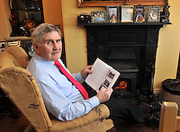 Mick O'Dwyerputs his feet up by the fire at home in Waterville County Kerry on Thursday.<br /> Picture by Don MacMonagle