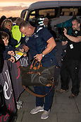 29th September 2017, AJ Bell Stadium, Salford, England; Aviva Premiership Rugby, Sale Sharks versus Gloucester; Sale Sharks' Director of Rugby Steve Diamond signs a young fans programme on his way into the stadium