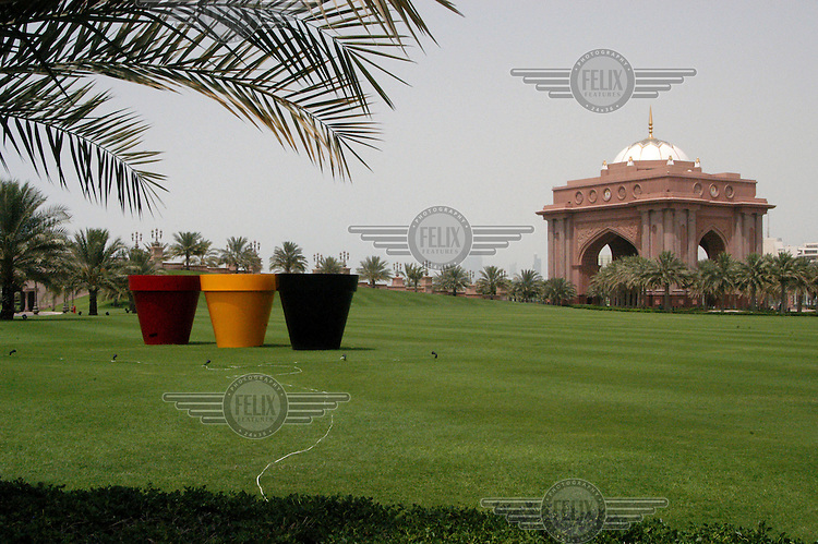 A building in the grounds of the Emirates Palace Hotel in Abu Dhabi, another self proclaimed seven star hotel in the UAE.