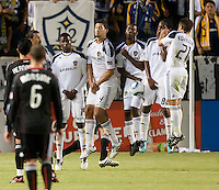 CARSON, CA – SEPTEMBER 18:  LA Galaxy during a soccer match at Home Depot Center, September 18, 2010 in Carson California. Final score LA Galaxy 2, DC United 1.