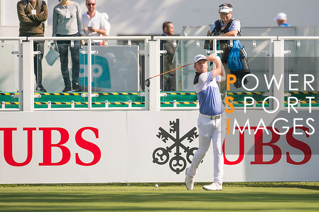 Andrew Dodt of Australia tees off the first hole during the 58th UBS Hong Kong Open as part of the European Tour on 08 December 2016, at the Hong Kong Golf Club, Fanling, Hong Kong, China. Photo by Marcio Rodrigo Machado / Power Sport Images