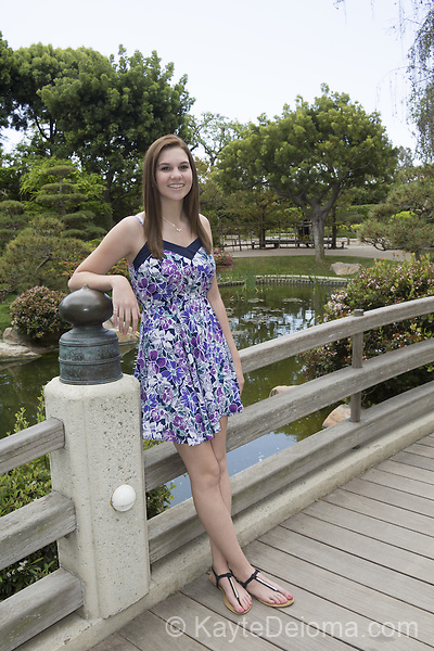 Portrait of a teenage girl in a Japanese Garden