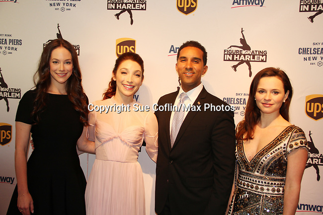 Alissandra Aronow & Meryl Davis & Sasha Cohen - Figure Skating in Harlem presents Champions in Life Benefit Gala on April 29, 2019 at Chelsea Pier, New York City, New York - (Photo by Sue Coflin/Max Photos)