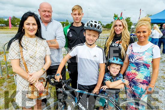 Enjoying the trills and spills at the Quad Bike Stunt Show on Sunday.  <br /> L to r: Kathleen Kiernan, Jamie O'Flaherty, Tadgh Tierney, Christan Kiernan, Thomas Power, Celia and Clinton Kiernan.