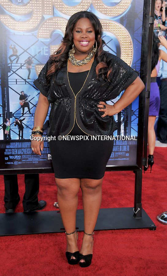 """AMBER RILEY.attends the World Premiere of """"Glee The 3D Concert Movie"""" at the Regency Village Theater, Westwood, Los Angeles_06/08/2011.Mandatory Photo Credit: ©Crosby/Newspix International. .**ALL FEES PAYABLE TO: """"NEWSPIX INTERNATIONAL""""**..PHOTO CREDIT MANDATORY!!: NEWSPIX INTERNATIONAL(Failure to credit will incur a surcharge of 100% of reproduction fees).IMMEDIATE CONFIRMATION OF USAGE REQUIRED:.Newspix International, 31 Chinnery Hill, Bishop's Stortford, ENGLAND CM23 3PS.Tel:+441279 324672  ; Fax: +441279656877.Mobile:  0777568 1153.e-mail: info@newspixinternational.co.uk"""