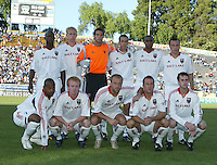 18 June 2005:   Real Salt Lake starting line up before the game against Earthquakes at Spartan Stadium in San Jose, California.    Earthquakes defeated Real Salt Lake, 3-0.   Mandatory Credit: Michael Pimentel / ISI