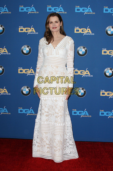 06 February 2016 - Los Angeles, California - Geena Davis. 68th Annual DGA Awards 2016 - Arrivals held at the Hyatt Regency Century Plaza. Photo Credit: AdMedia
