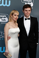Emma Roberts and Evan Peters attend the 23rd Annual Critics' Choice Awards at Barker Hangar in Santa Monica, Los Angeles, USA, on 11 January 2018. Photo: Hubert Boesl - NO WIRE SERVICE - Photo: Hubert Boesl/dpa /MediaPunch ***FOR USA ONLY***