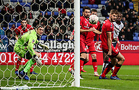 Bolton Wanderers' Clayton Donaldson scoring his side's first goal <br /> <br /> Photographer Andrew Kearns/CameraSport<br /> <br /> Emirates FA Cup Third Round - Bolton Wanderers v Walsall - Saturday 5th January 2019 - University of Bolton Stadium - Bolton<br />  <br /> World Copyright &copy; 2019 CameraSport. All rights reserved. 43 Linden Ave. Countesthorpe. Leicester. England. LE8 5PG - Tel: +44 (0) 116 277 4147 - admin@camerasport.com - www.camerasport.com