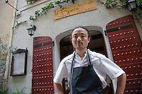 Europe/France/Languedoc-Roussillon/66/Pyrénées-Orientales/Collioure:  Masashi Iijima restaurant: Le 5e Péché  [Non destiné à un usage publicitaire - Not intended for an advertising use]